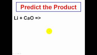 Solving Chemical Reactions - Predicting The Products - CLEAR & SIMPLE CHEMISTRY
