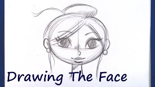 How To Draw A Cartoon Face  (Beginner Level)