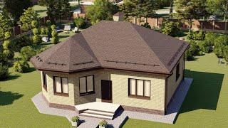 Проект дома 085-D, Площадь дома: 85 м2, Размер дома:  10,2x11,5 м