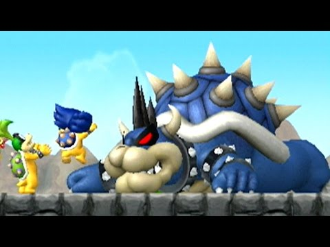 New Super Mario Bros Wii - Dark Bowser Boss Battle