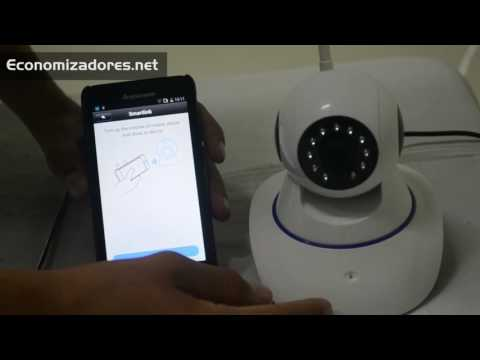Tutorial configuración Cámara ip robótica Wifi con alarma incorporada