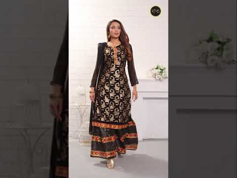 Georgette Party Wear Black Sharara Suit