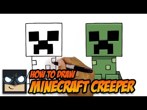How to Draw Minecraft Creeper   Step by Step Tutorial