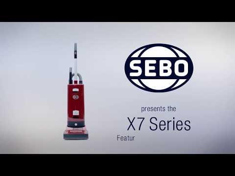 Sebo Upright Cleaner 91533GB - Dark Grey / Silver Video 1