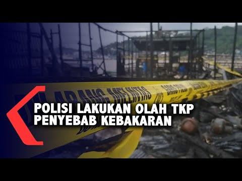 Polisi Olah TKP Kebakaran Di Samarinda Seberang