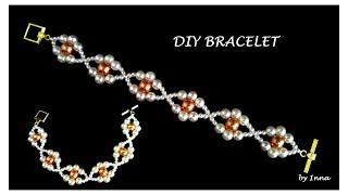 How To Make A Beaded Bracelet.  Beginners Pattern 🌼🌼🌼
