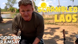 Gordon Ramsay Makes a Spicy Asian Omelette in Laos | Scrambled