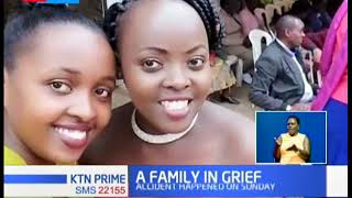 Family mourning death of four relatives after a road crash