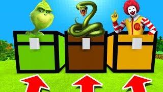Minecraft PE : DO NOT CHOOSE THE WRONG CHEST! (Grinch, Anaconda & Ronald Mcdonald)