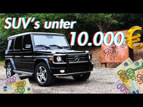 Die 5 besten SUV's unter 10000€