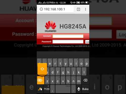 Tutorial Mengganti Password Super User Modem Huawei HG8245H - Видео