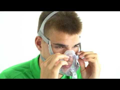 CPAP-Maske korrekt anziehen