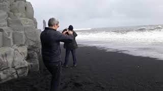 """THE MOST DANGEROUS BEACH IN ICELAND, """"Black Sand Beach"""", (HEAD PHONES FOR BEST EFFECT)15/7/18."""