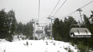 Going up the WIZARD EXPRESS on Whistler Blackcomb Ski Resort