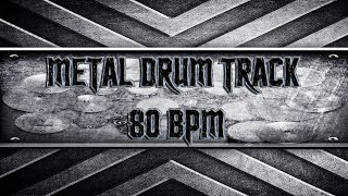 Black Label Society Style Metal Drum Track 80 BPM (HQ,HD)