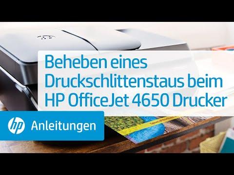 Beheben eines Druckschlittenstaus beim HP OfficeJet 4650 Drucker