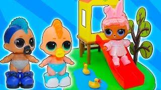 КУКЛЫ ЛОЛ в ДЕТСКОМ САДУ! ДЕТИ ИГРАЮТ! Видео для детей! Мультик про куклы лол сюрприз LOL DOLLS