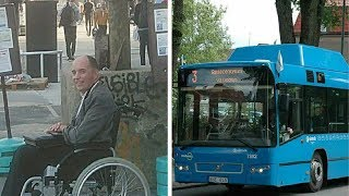 Passengers on bus refuse to make space for wheelchair user, only for driver to give them a taste...