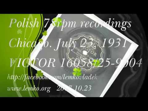 Polish 78rpm recordings, 1931. Victor 16058. Polskie Orły
