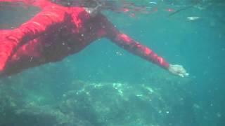 Latex Catsuit Underwater