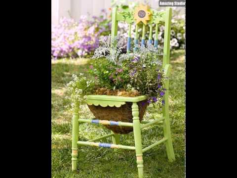 Moderne Stuhl Pflanzer für Garten Ideen