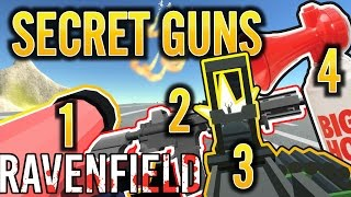 RAVENFIELD ALL SECRET WEAPONS STEAM EARLY ACCESS BETA 6 | HOW TO GET AIR HORN PATRIOT HYDRA HMG