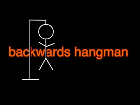 backwards hangman
