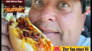 Wienerschnitzel  Buffalo Bacon Chili Cheese Dog Review!