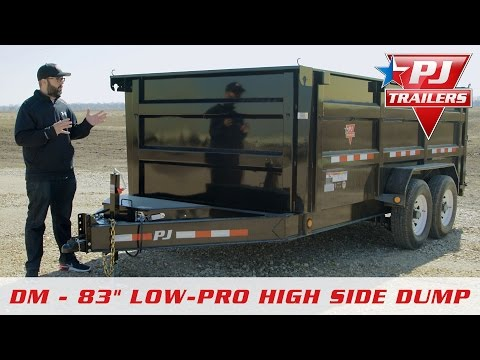 2019 PJ Trailers 83 in. Low Pro High Side Dump (DM) 12 ft. in Paso Robles, California