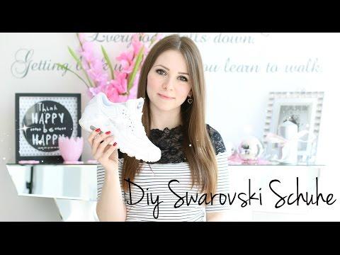 HOW TO: DIY SWAROVSKI CRYSTAL SHOES | DIY SCHUHE MIT STRASS