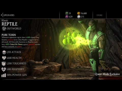 MKX Mobile 1 18  How To Get Klassic Reptile  Fight Him in