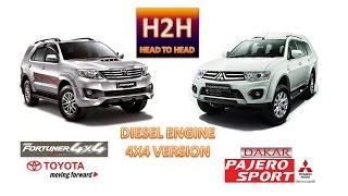 H2H #4 Fortuner  VNT vs Pajero Sport Dakar 2015