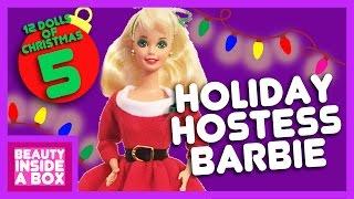 Holiday Hostess Barbie - 12 Dolls Of Christmas - Beauty Inside A Box