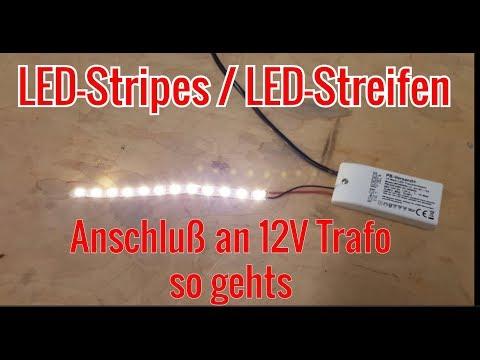 LED Streifen / Stripes mit 12V Trafo verbinden (incl. Ein-/Ausschalter)