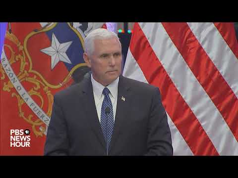 Vice President Pence responds to question on President Trump's Charlottesville remarks