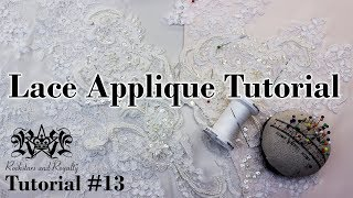 How To Cut And Sew On Lace Appliques | Tutorial #13 By Rockstars And Royalty