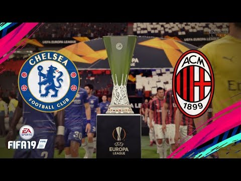 FIFA 19 - CHELSEA VS MILAN AC (Gameplay Europa League)