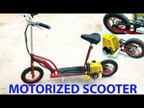 Build a Motorized Scooter at home - Using 4-stroke Engine - Tutorial