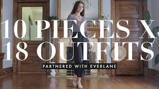 Closet Essentials: 10 pieces X 18 outfits with Everlane AD