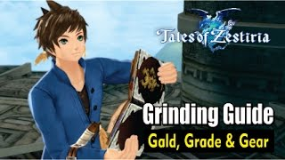 Tales of Zestiria - Grinding Gald, Grade, EXP and Gear Guide