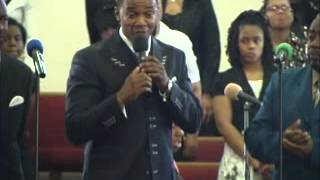 pastor singing at his grandad homegoing