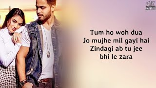 Tum Ho ( Lyrics ) - Shahzeb Tejani | Love Song - YouTube