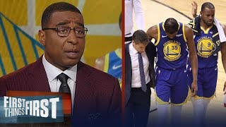 Cris and Nick on reports Kevin Durant suffered Achilles injury in GM 5   NBA   FIRST THINGS FIRST