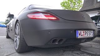 BRUTAL Mercedes SLS AMG with Akrapovic Exhaust System!