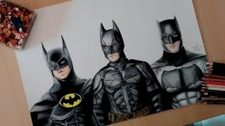 Speed drawing: The evolution of Batman