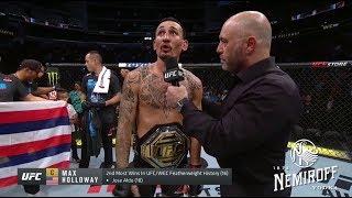 UFC 240: Max Holloway and Frankie Edgar Octagon Interviews