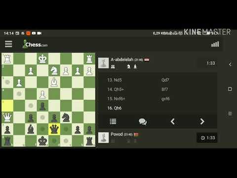 Трудные времена настали для белых. Шахматы, блиц.