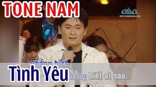 Tình Yêu KARAOKE   Lâm Nhật Tiến | Tone Nam | Asia Karaoke Beat Chuẩn