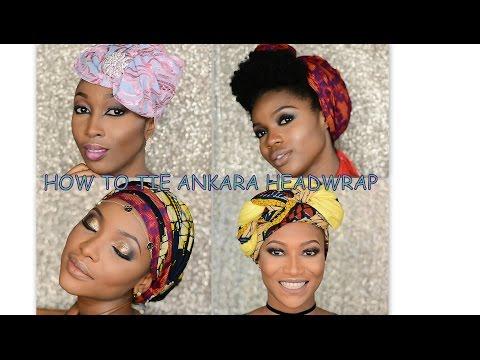 How to tie Ankara Headtie (4 different styles)