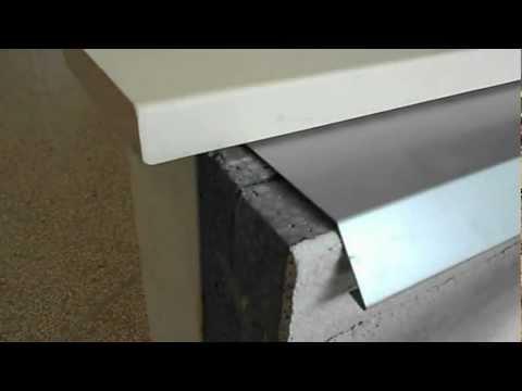 Prolunga soglia davanzale con copertura scossalina profilo alluminio a spiovente Cappotto Corazzato